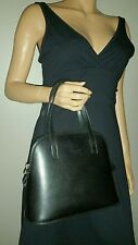 SIMONE FIRENZE ITALY BLACK LEATHER HANDBAG EVENING CLASSIC BAG EUROPEAN PURSE