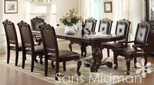 Furniture NEW! Kira 11 pc Formal Dining Room Set, Table w/2 leaves and 10 chairs