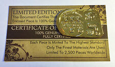 """New 1852 Adelaide Ingot """"Australia's First Gold Issue"""" Finished in 999.0 Gold (a"""