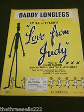 ORIGINAL SHEET MUSIC - DADDY LONGLEGS from LOVE FROM JUDY
