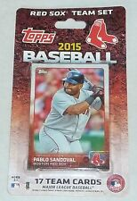 Boston Red Sox 2015 Topps Baseball Factory Sealed Team Set Ortiz Pedroia Pablo
