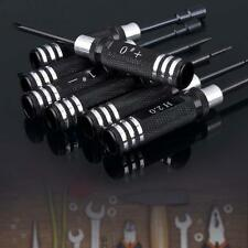 7pcs Hex Screw Driver Tool Kit 1.5MM-5.5MM for RC Helicopter Plane Car Black MT