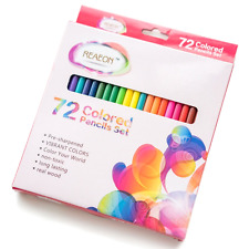 72 Colored Pencils, No Duplicates Reaeon Coloring Watercolor Soft Core Pencil -