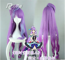 New Cosplay Wig Anime Macross F Mikumo Guynemer Wig Purple Ombre+Wig Cap