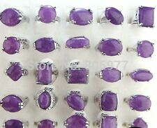 40stk Top Modeschmuck ringe  alloy Design sonderposten natural stein amethyst