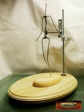 M00119 MOREZMORE Adjustable Rotating Clay Sculpting Armature Stand Lazy Susan
