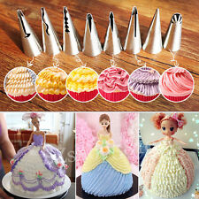 DIY 7x Stainless Steel Barbie Skirt Design Cake Decor Icing Piping Nozzles Tips