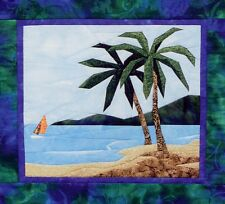 Tropical Scene Beach Palm Tree Landscape Picture Piecing Quilt Pattern