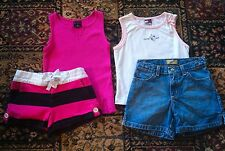 GIRLS CLOTHING LOT - 2 SHIRTS TANKS & 2 SHORTS Girls Size 6 ~ Excellent!