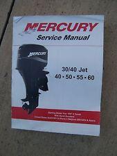 1997 & Later Mercury Outboard Motor 30 / 40 Jet 40 50 55 60 Service Manual  U
