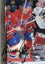 VINCENT DAMPHOUSSE CANADIENS AUTOGRAPH AUTO 96-97 LEAF PREFERRED #25 *30620