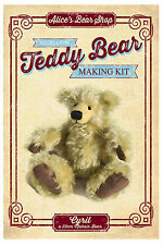 Mohair Bear Making Kit - Cyril 22cm - from Alice's Bear Shop