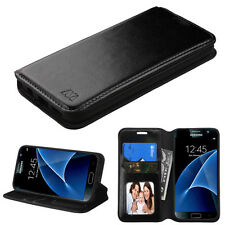 2016 *NEW For SAMSUNG Galaxy S7 PHONE BLACK WALLET LEATHER ACCESSORY COVER CASE