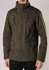 NWT Diesel J-Saffron Mens Funnel Neck Military Jacket XL X-Large Outerwear