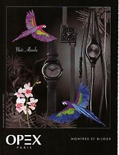 Publicité Advertising 2012  Montre OPEX  joaillerie bijou collection mode