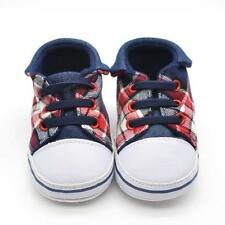 &Newborn Baby Canvas Soft Sole Shoes Kids Toddler Boys Girls Shoes Sneakers 11