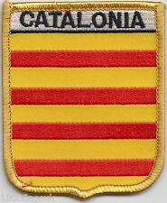 Spain Catalonia Flag Shield Embroidered Patch Badge