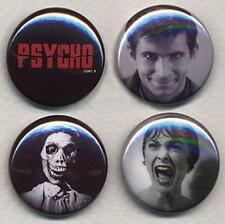 PSYCHO four Badge Button Pins - CREEPY!