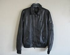 BANANA REPUBLIC Leather Flight Bomber Jacket black MEDIUM  NWT/$550