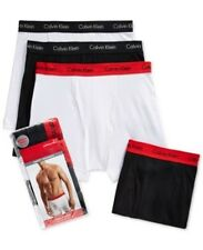 Calvin Klein Boxer Briefs, 4 Pack Black / White Assorted Large $42.50 Value