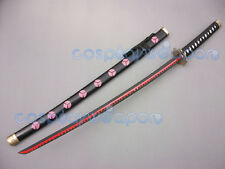 One Piece Roronoa Zoro Black Katana Shusui Cosplay Ryuma Samurai  Sword Weapon