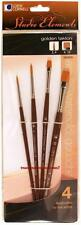 Loew Cornell STUDIO ELEMENTS 1024919 GOLDEN TAKLON Brush Set ROUNDS & SHADERS