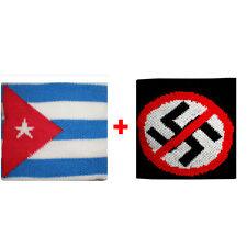 Coppia polsini Cuba + divieto in spugna gruppi rock e bandiere