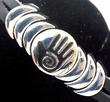 Epic Spirit Bracelets Wheeler Healing Hand Leather Pewter Clasp Magnetic wcb 752