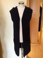 Monari Cardigan Size S BNWT Navy Sleeveless With Hood RRP £99 NOW £45