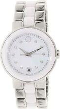 Movado Cerena 0606540 Steel & Ceramic Quartz Ladies Watch