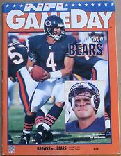 1992 Chicago Bears Cleveland Browns Program Jim Harbaugh Cover