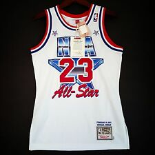 100% Authentic Michael Jordan Mitchell & Ness 91 NBA All Star Jersey Size 36 S *