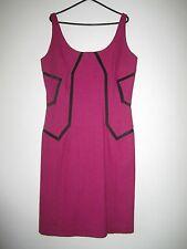 Ladies Diane Von Furstenberg Cerise Wool Pencil Dress S/M VGC