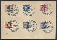 Zara 1943 MI Due 1-3+5-7 on fragment  CANC  VF