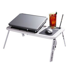 Portable Foldable Laptop E Table With Cooling Fan,Mouse pad,Cup & Pen Holder