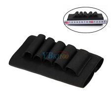 Shotgun Rifle 5 Rounds Buttstock Shell 12 20 Gauge Cartridge Belt Holder Elastic