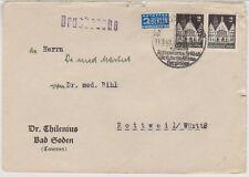 Bizone/Bauten, 73wg, MeF, Bad Soden/Taunus, OWS, 11.5.49