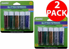 2 Pack Decorative Craft Glitter Powder Tube For DIY School Craft Art 0.17oz Each