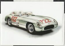 MERCEDES 300 SLR 722 MILLE MIGLIA 1955 MOSS NEW ART GREETING GIFT BIRTHDAY CARD
