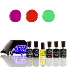 UV-NAILS Salon Quality Gel Polish Starter Kit With LED Lamp V10-B-3 NE2,NE5,NE7