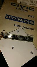 88-91 Honda CRX New upper timing belt cover decal label rare Nos genuine civic