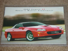 2002 Camaro SS Factory Original SLP Owners Manual Supplement Blank Mint