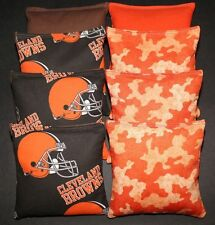 CLEVELAND BROWNS Cornhole Bean Bags ALL WEATHER Plastic Resin Filled Waterproof!