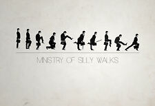 A4 Poster - Monty Python Ministry of Silly Walks (Comedy DVD Blu-Ray Picture)