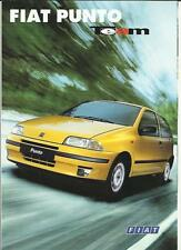 FIAT PUNTO TEAM SPECIAL EDITION SALES BROCHURE 1996  1997 GERMAN LANGUAGE