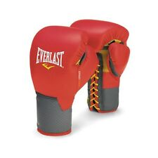 NEW Everlast C3 Leather Pro Laced Boxing Gloves Size: 12 oz. Color: Red