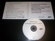 Teodoro Anzellotti · John Cage CD digipak Winter & Winter ‎– 910 080-2 Germany