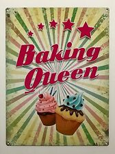 Baking Queen - Tin Metal Wall Sign