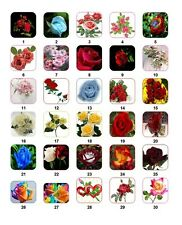 30 Personalized Return Address Flower Roses Labels Buy 3 get 1 free (frs1)