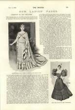 1895 Fashions At The Theatre Miss Alma Stanley Olga Nethersole